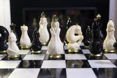 Шахмат много на доске Стоковые Изображения