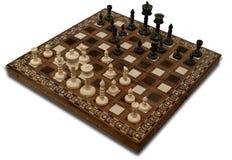 Шахмат на белизне. Стоковая Фотография RF