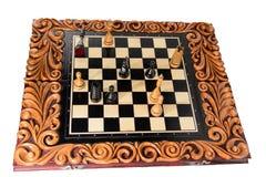 Шахмат почерните ответную часть потери highlight игры конца шахмат проверки дела доски monochrome метафоры над успехом стратегии  Стоковая Фотография RF