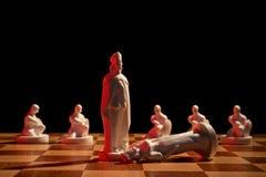 Шахмат сфотографированный на доске Стоковое Изображение