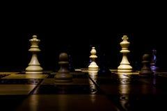 Шахмат сфотографированный на доске Стоковое Фото