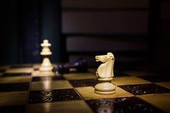 Шахмат сфотографированный на доске Стоковая Фотография