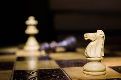 Шахмат сфотографированный на доске Стоковые Фотографии RF
