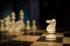 Шахмат сфотографированный на доске Стоковые Изображения RF