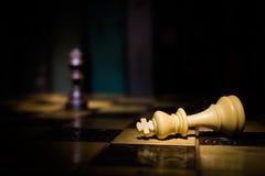 Шахмат сфотографированный на доске Стоковые Изображения