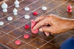 Шахмат Таиланд Типичные игры мозга, селективный фокус Стоковые Фотографии RF