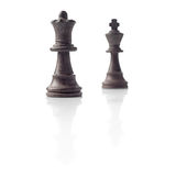 Шахмат. Черные ферзь и король, принципиальная схема водительства Стоковое Изображение