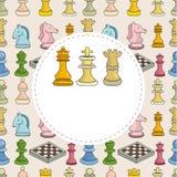 шахмат шаржа карточки Стоковая Фотография