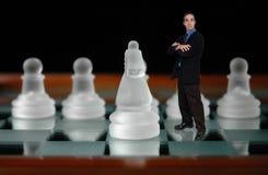 шахмат 6 бизнесменов Стоковые Изображения