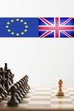 Шахмат Brexit стоковые изображения rf
