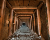 шахта входа внутренняя смотря Стоковое фото RF