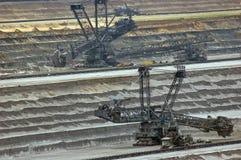шахта землечерек свободного полета угля открытая Стоковые Фото