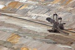 шахта землечерпалки угля бросания открытая Стоковые Фото