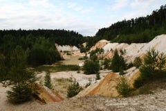 шахта каолина Стоковое Фото