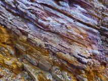 Шахта каолина, Quattropani в Lipari, Эоловых островах, Сицилии, Италии Стоковое Изображение RF
