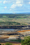 шахта отрезока угля открытая стоковые изображения