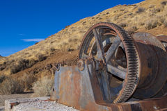 шахта подъема заржавела стоковая фотография