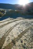 шахта сброса над восходом солнца стоковое изображение