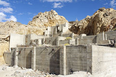 шахта стана обрабатывая tailings руин Стоковое Фото
