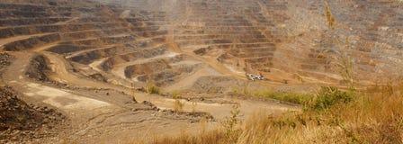 Шахта цинка Предпосылка минировать промышленный ландшафт Стоковое Изображение