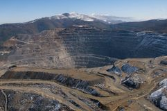 Шахта Elacite - вид с воздуха Болгария Стоковые Фото
