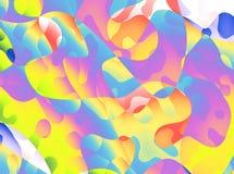 Шаловливая абстрактная предпосылка с скачками красочными формами Стоковое Изображение
