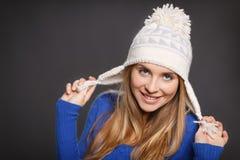 Шаловливая женщина зимы Стоковое Фото