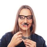 Шаловливая молодая женщина готовая для партии Стоковая Фотография RF