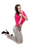Шаловливая молодая женщина стоковые фото