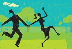 Шаловливые танцоры Стоковая Фотография