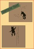 Шаловливый младенец носит на иллюстрации плаката дерева винтажной Стоковое Фото