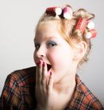 2 шаловливых девочка-подростка перед одним глазом Стоковые Фото