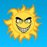 Шальное солнце шаржа Стоковое Изображение