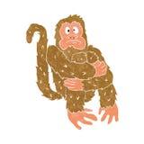 Шальное усаживание обезьяны иллюстрация вектора