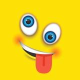 Шальное emoji иллюстрация штока