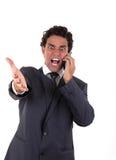 Шальной бизнесмен Стоковое Изображение RF