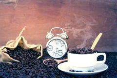 Шальной влюбленн в кофе Стоковое фото RF