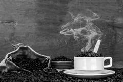 Шальной влюбленн в кофе Стоковая Фотография RF