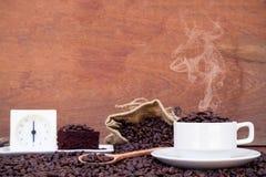 Шальной влюбленн в кофе Стоковые Фото
