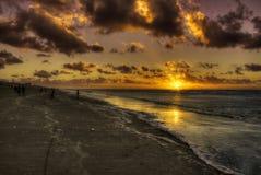 Шальной заход солнца Стоковое фото RF
