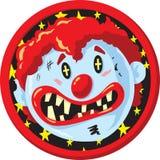 Шальной значок клоуна Стоковое фото RF