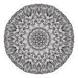 Шальной шаблон мандалы для книжка-раскраски, zendoodle Круглое zentangle Круглая картина шнурка орнамента для вашего дизайна Стоковое Фото