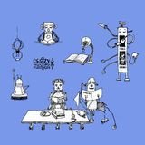 Шальные роботы архив Стоковые Фотографии RF
