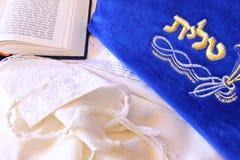 Шаль молитве - Tallit, еврейский религиозный символ Стоковые Изображения RF