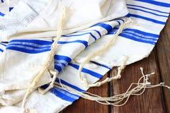 Шаль молитве - Tallit, еврейский религиозный символ Стоковое Изображение RF