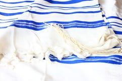 Шаль молитве - Tallit, еврейский религиозный символ Стоковое Фото