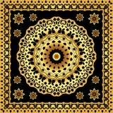 Шаль с круговой картиной золота Стоковое Изображение RF