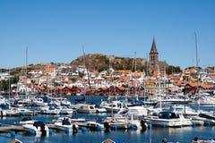 Шведская Марина побережья стоковая фотография rf