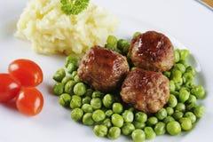 Шведские meatballs Стоковая Фотография