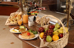 шведский стол завтрака стоковое фото